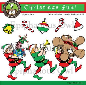 Christmas Elves Clip Art Set 1
