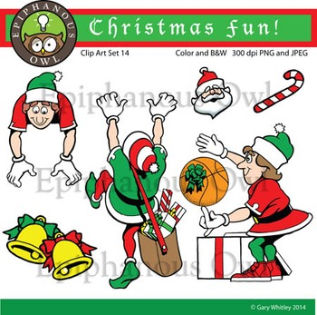 Christmas Elves Clip Art Set 14