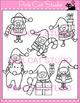 Christmas Elves Clip Art Set 2  - Personal or Commercial Use