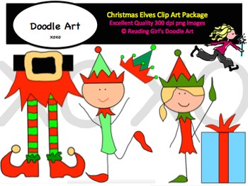 Christmas Elves Clipart Pack
