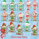 Christmas Clipart, 15 Elves Cliparts with Christmas Lights, AMB-1132