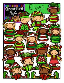 Elves Christmas Clipart  {Creative Clips Clipart}