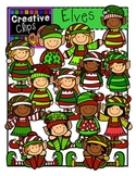 Elves Christmas Clipart  {Creative Clips Clipart}