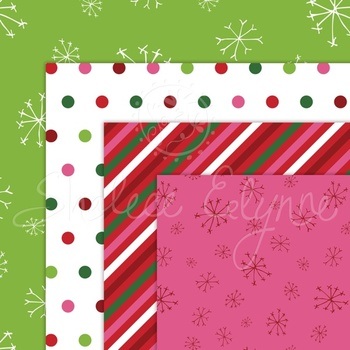 Christmas Elves Digital Paper Pack
