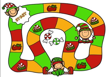 Christmas Elves Game Board