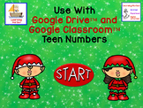 Christmas Elves Teen Numbers Tens Blocks and Ten Frames for Google Classroom™
