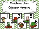 Christmas Elves Themed Calendar Numbers {Christmas}
