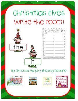 Christmas Elves Write the Room
