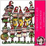 Christmas Elves clip art- Melonheadz clipart