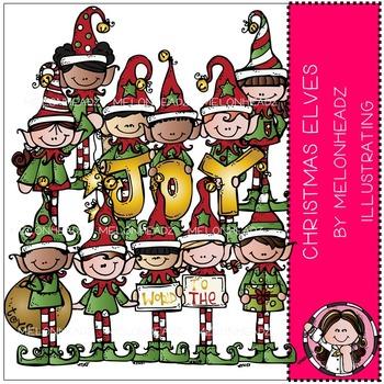 Melonheadz: Christmas Elves clip art - COMBO PACK
