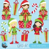 Christmas Elves clipart commercial use, vector graphics - CL598