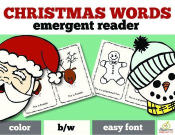 Christmas Emergent Reader Christmas Words