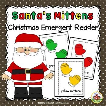 Christmas Emergent Reader Santa's Mittens