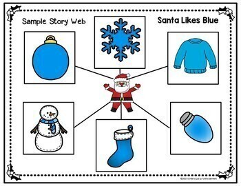 Christmas Emergent Reader and Story Web: Santa Likes Blue