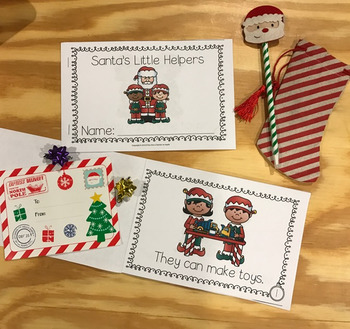 Christmas Emergent Reader - Santa's Little Helpers