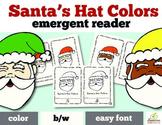 Christmas Emergent Reader- Santa's Hat Colors