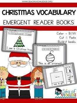 Christmas Emergent Reader Vocabulary Books
