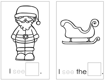 Christmas Emergent Reader {cut and paste}