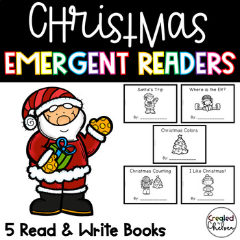Christmas Emergent Readers {Set of 5 Read and Write Books}