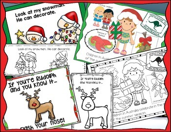 Christmas Emergent Readers {With Matching Big Books} by Miss Hellen's Hippos
