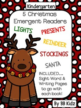 Christmas Emergent Readers with Sight Word Cut & Paste / Kindergarten