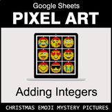 Christmas Emoji - Adding Integers - Google Sheets Pixel Art