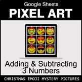 Christmas Emoji: Adding & Subtracting 3 Numbers - Google S