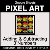 Christmas Emoji: Adding & Subtracting 3 Numbers - Google S