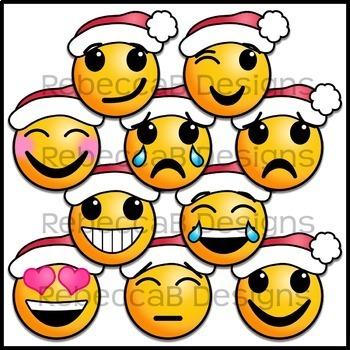 Christmas Emoji Clip Art