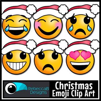 Christmas Emoji Clip Art: Emoji Faces, Emotion Clip Art fo