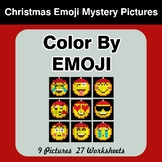 Christmas Emoji: Color by Emoji - Mystery Pictures