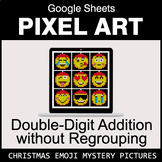 Christmas Emoji: Double-Digit Addition without Regrouping - Pixel Art