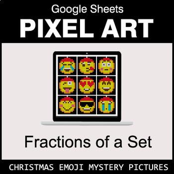 Christmas Emoji - Fractions of a Set - Google Sheets Pixel Art