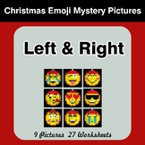 Christmas Emoji: Left & Right side - Color by Emoji - Myst