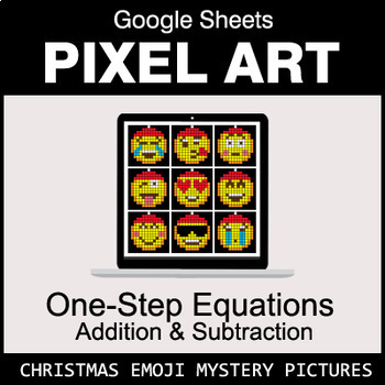 Christmas Emoji - One-Step Equations - Addition & Subtraction - Google Sheets