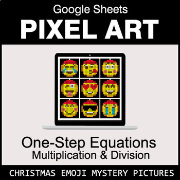 Christmas Emoji: One-Step Equations - Multiplication & Division - Google