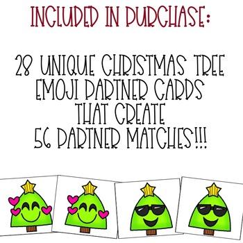Christmas Emoji Partner Cards