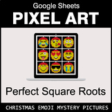 Christmas Emoji: Perfect Square Roots - Google Sheets Pixel Art