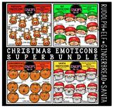 Christmas Emoticons Clip Art Super Bundle  {Educlips Clipart}