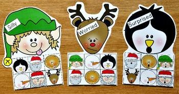 Christmas Emotions Sorting Activities