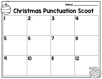 Christmas Ending Punctuation Scoot