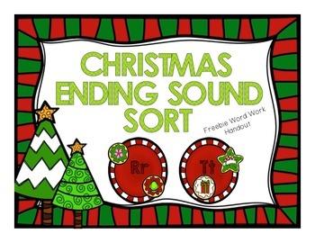 Christmas Ending Sounds FREEBIE