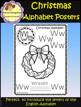 Christmas English Alphabet  - Posters - Coloring Pages (School Designhcf)