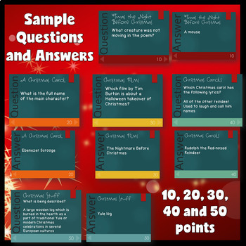 December Activities (Christmas PowerPoint Game)