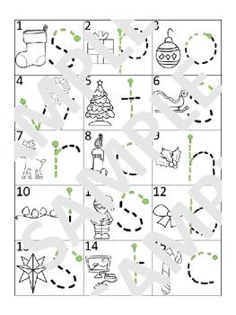 Christmas - English - Fine Motor activity mat bundle