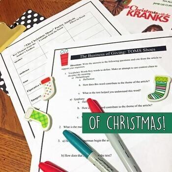 Christmas English Lessons for Teens, BUNDLE