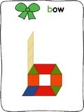 Christmas - English - Pattern block activity mats