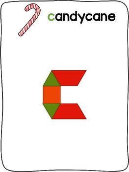 Christmas - English - Pattern block activity mats