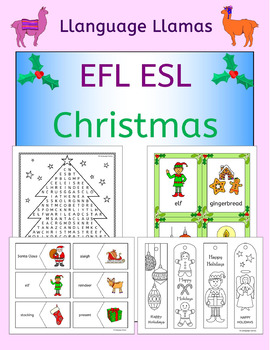 Christmas English vocabulary games, puzzles, cards and activities EAL EFL ESL