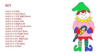 Christmas Equations Activity: Color an Elf (Fractions / Decimals)
